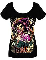 Twisted Zombie Brain Scarecrow Wizzard of OZ Punk T Shirt Horreur gothique