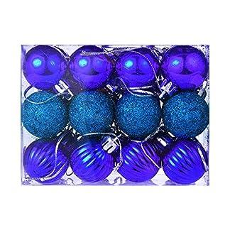 FossenHyC Bolas de Navidad Decoradas de Colores – 24pc Decoración Navideña Arbol Adorno – Decoracion Navidad Hogar para Escaparates, Percha, Casa, Puerta