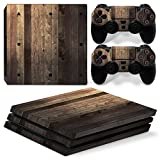 Mcbazel Anti-Scratch Decal Vinyl Aufkleber Skin Pattern Serie Skin Cover f¨¹r PS4Pro(Holz v2)