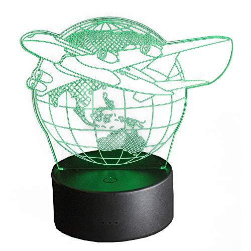 feb4778237a1 Paide 3D 3D Decoration Lamp - Cambia colore con telecomando - USB LED -  Decorazione della casa, regali, bambini (viaggio)