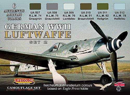 Tarnfarben Set LifeColor CS07 GERMAN WWII LUFTWAFFE SET2 (Wwii Luftwaffe)
