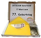 Symbolisch wertvolles Geschenk – 77 DDR Mark* zum 77. Geburtstag (1940) in Dose - OSTALGIE