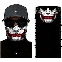 2ac7899cd681 inGun Bandeau Tour de Cou Multifonction Design en Polyester Skull Cache Cou  Foulard Écharpe pour Motards