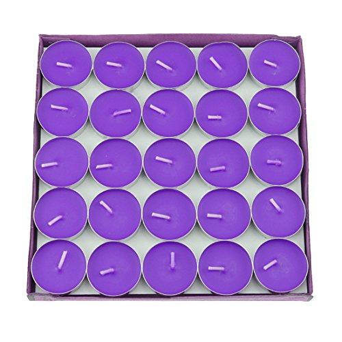 Salome Idea 50Pcs Teelicht Kerzen, Dekorative Kerze für Hochzeit, Geburtstage und Alle Anderen Dekorativen Veranstaltungen Violett Pc-violett
