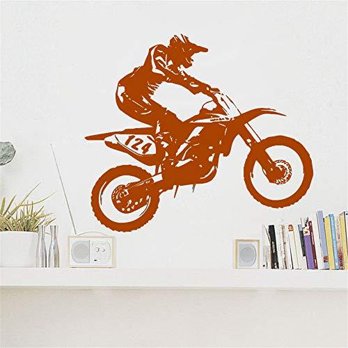 Arte Vinilo Etiqueta de la pared Dirt Bike Mural Decoración de la...
