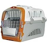 Catit 50783 Cabrio Transportbox für Katzen weiß/grau/orange