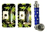 Metal Pipe Tobacco Smoking Random Design Color & Pack of 5 Screens Pocket Size