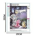 Adminitto88 5D Bordado Diamante Pintura Cubo de Rubik Oso Pequeño Pintura Pintura de Diamante Decoración de la Habitación de la Casa Etiqueta de la Pared Cubo de Rubik Diamante Diamante Pintura