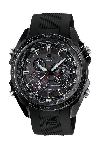 Casio Edifice Herren Uhr Analog Quarz mit Resinarmband EQS-500C-1A1ER