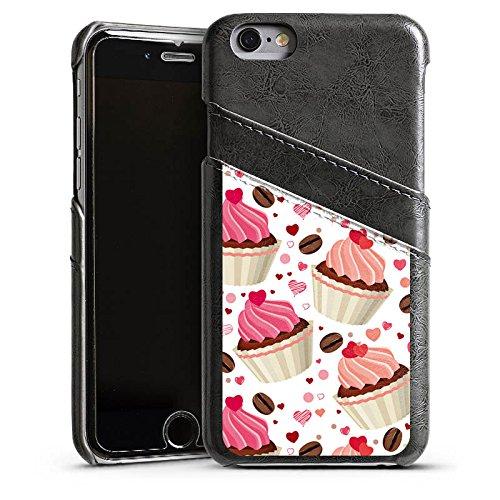 Apple iPhone 4 Housse Étui Silicone Coque Protection Tarte Gâteau Café et gâteau Étui en cuir gris