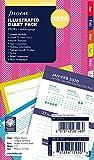 Filofax Kalendereinlage Personal Illustrated Diary Stripes 1 Woche auf 2 Seiten (mehrsprachig) 2020