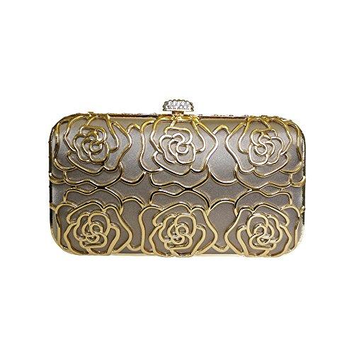 Anna Cecere Italienisch Entwickelt Rosa Juwel Clutch Abendtasche - Creme (Damen Handtasche Jeweled)
