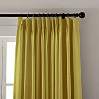 ChadMade Pinch Pleat Solid Thermal Insulated Blackout Patio Door Curtain Panel Drape For Traverse Rod and Track, (1 Panel) by ChadMade