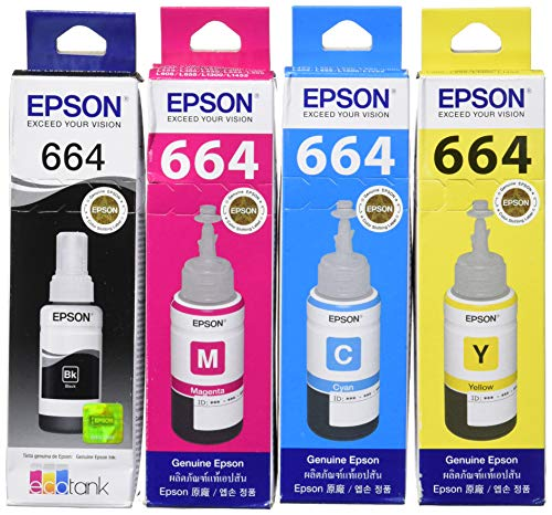 EPSON Original Refill Ink Set (T6641 T6642 T6643 T6644) For L100 L110 L120 L200 L210 L300 L350 L355 L550 L555 -