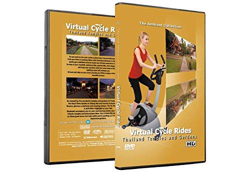 Virtuelle Fahrradtouren DVD - Thailand Tempel und Gärten - für Indoor Radfahren, Laufband und Jogging Workouts