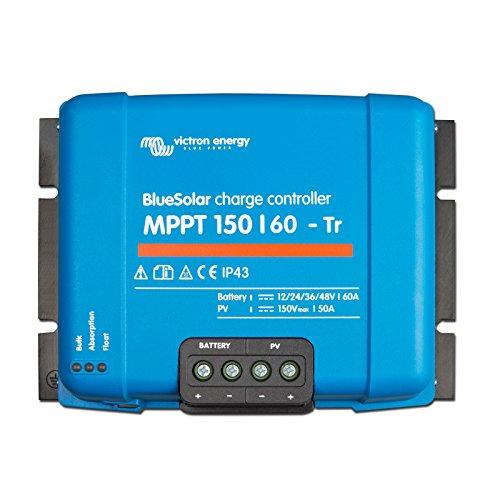 Victron BlueSolar MPPT 150/6060A Solar-Laderegler für Solaranlagen bis zu 860W (12V)/1720W (24V)/2580W (36V)/3440W (48V) und bis zu 150V