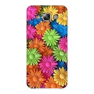 Cute Art Sunflower Print Back Case Cover for Galaxy E7