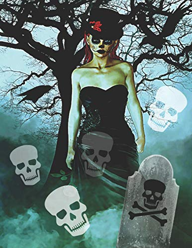 Gothic Women with Ghostly Skulls & Ravens: Journal Notebook with blank lined pages for Goth Lovers Horror Lovers -