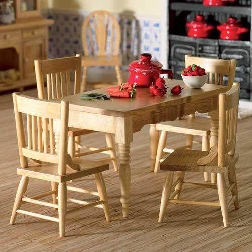 The Dolls House Emporium Küchentisch & 4 Stühle