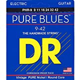 DR Strings PURE BLUES 9-42 Jeu de Cordes pour Guitare Electrique