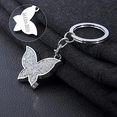 �ner Schmetterling Schlüsselanhänger in Edelstahl poliert - Gravierte Geschenk für Geliebte, Familie und beste Freunde , 1# (Personalisierte Schmetterling)