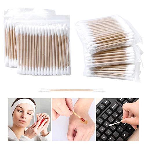 Bastoncillos algodón mangos madera maquillaje, 500