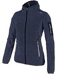 Strickfleece Outdoor Jacke CMP für Damen mit Fleece-Innenausstattung und weicher Kapuze, in vielen Farben erhältlich. Für Schule, Wandern und Freizeit. Unser Sondermodell Kiara