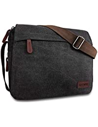 HASAGEI Men s Canvas Messenger Shoulder Bag Men s Messenger Bags Retro Canvas  Crossbody Bag Laptop Bag Satchel 52c618af170bd