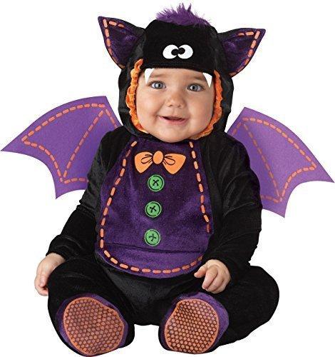 Deluxe Baby Jungen Mädchen Fledermaus Buch Tag Halloween Charakter Kostüm Kleid Outfit - Schwarz, 0-6 Monate