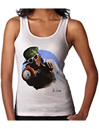 Tom Sheehan Official Photography - Flavour Flav Public Enemy White with Timepiece Women's Vest