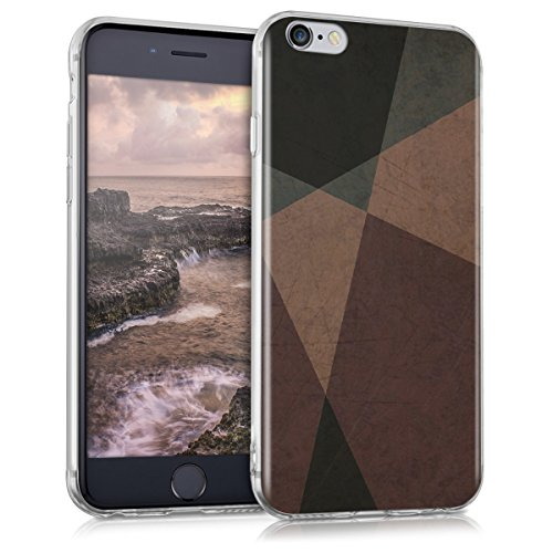 kwmobile Apple iPhone 6 / 6S Hülle - Handyhülle für Apple iPhone 6 / 6S - Handy Case in Altrosa Grau Schwarz