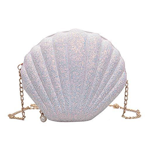 XINJIA Mini Ocean Shell Bag Umhängetasche in Form Einer weiblichen Muschel, Damen Umhängetasche Handtasche Schulterkette Umhängetasche Umhängetasche mit Ocean Shell