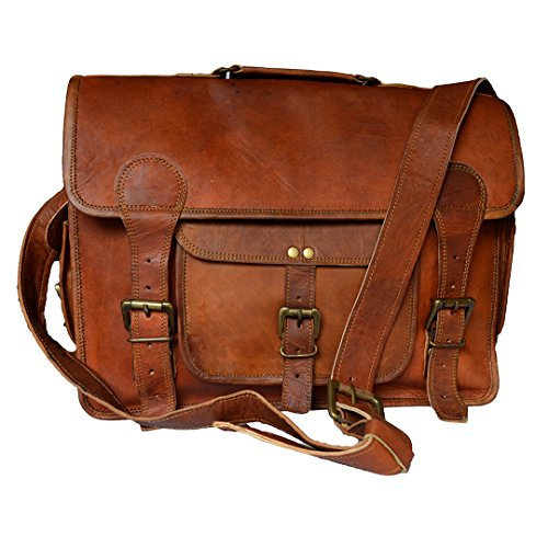 Mad Over Shopping Vintage Bags Genuine Leather Photography Lens Camera Case Men's Laptop Bag Lens Case Medium