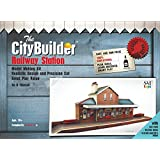 The CityBuilder 1:43 Scale Railway Station Model Making Kit, 7mm O gauge (Multicolour)