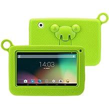 "Excelvan Q758- Tablet para Niño (7"" Pantalla, 1024*600 Resolución, Android 4.4, Allwinner A33 512MB+8GB, Dual Camera, WIFI , Apoya External 3G) (Verde)"