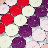 24x Maxi-Duftteelichter, Teelicht, Teelichter, Duftkerze, Kerzen, Wachskerzen, Brenndauer 9 Stunden (Magnolie/Rosé)