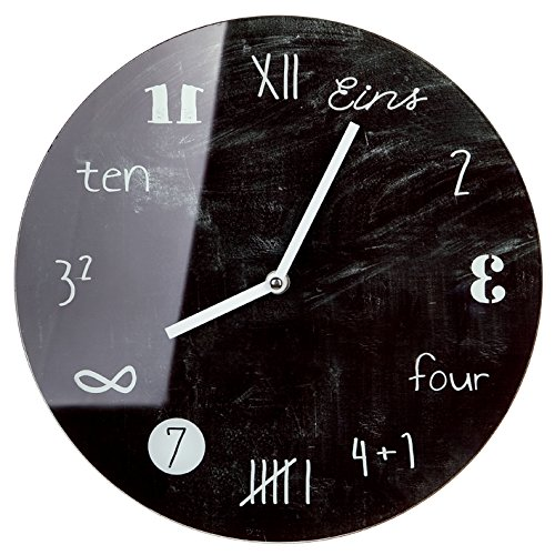 Wanduhr Uhr Glas Tafeldesign D 17cm