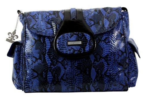 kalencom-elite-sac-a-langer-motif-python-bleu