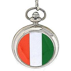 Reflex Gents Ireland Irish Flag Pocket Watch on 12 Inch Chain 141089SP