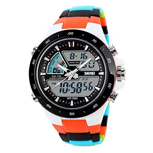 TTLIFE Relojes de pulsera unisex con esfera grande, relojes deportivos de Silicona con correa Impermeable, Reloj digital de colores