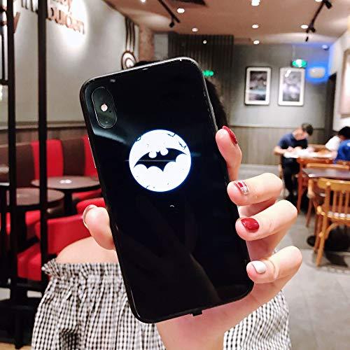 MINGRONG Telefon Fall Stoßdämpfung Led-Licht iPhone Fall Schutz Telefon Abdeckung für iPhone 6 / 6P 6S / 6SP 7/8 7P / 8P X/XS XR XS MAX (Eine Vielzahl von Stilen) (Telefon-abdeckungen Für 1 1)
