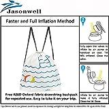 Jasonwell®Riesiger aufblasbarer Einhorn Pool Floß mit speziellen schnell Ventilen - 7
