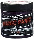 High Voltage Classic Plum PassionPour obtenir une couleur des plus pures, vos cheveux doivent être préalablement décolorés avec les kits Manic Panic® flash Lightning® Bleach, avant l'application. Sur une hauteur de ton de 9 ou 10 suivant le résultat ...