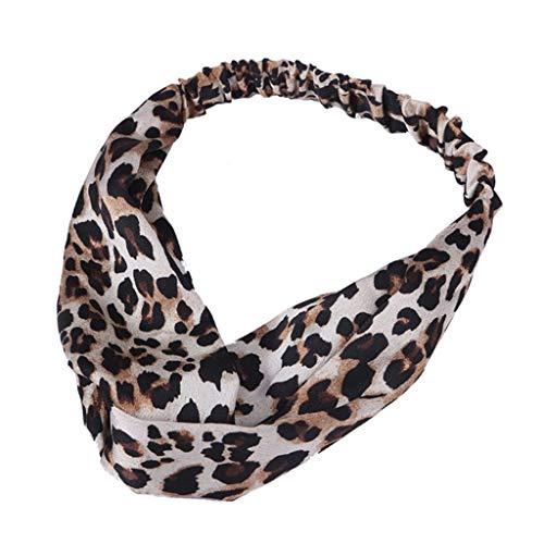 Yvelands Mode Damen Stirnbänder Haar Stirnband Haarschmuck Weinlese-Blume druckte elastische Kopf-Verpackungs-verdrehte Nette Haar-Zusätze