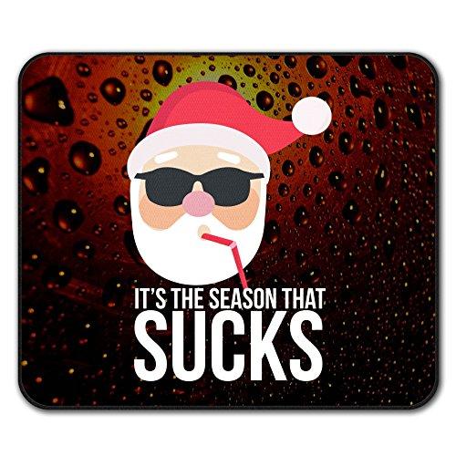 Weihnachtsmann Hut Komisch Weihnachten Weihnachten Nicht Unterhose Maus Polster 24cm x 20cm | Wellcoda