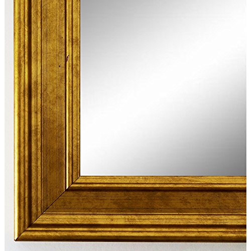 Spiegel Wandspiegel Badspiegel - Hamburg 3,4 - Gold - 200 Größen zur Auswahl - handgefertigt - 90 x 100 - AM - Antik, Barock, Landhaus