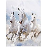 Good Morning Kuscheldecke Wohndecke Tagesdecke Plaid 5724 Schnee Pferde 130x160