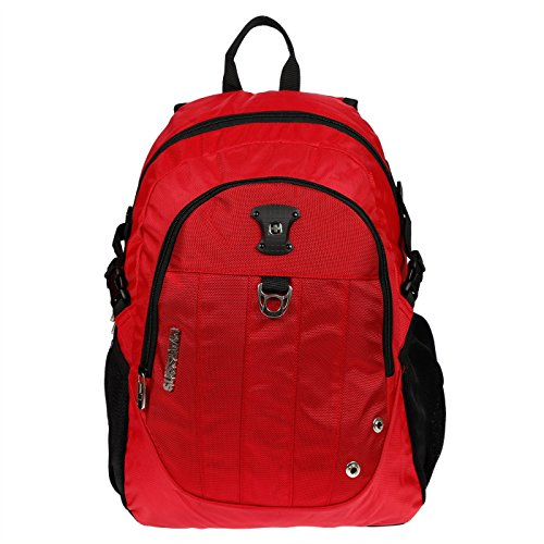 Christian Wippermann Buissnes Comfort Laptop Rucksack invers. Farben Rot