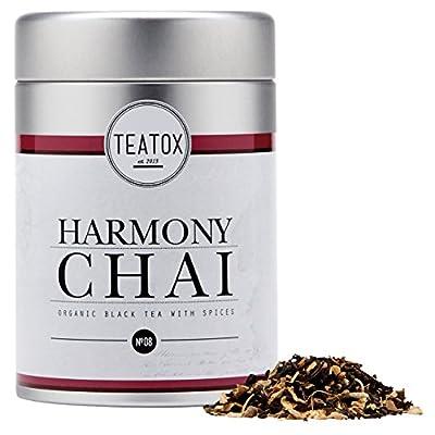 TEATOX Harmony Chai, Mélange de thé noir et d'épices biologique