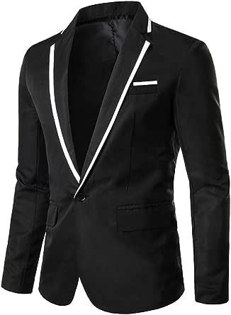 YOUTHUP Mens Slim Fit Blazer Lightweight Formal Business Suit Jacket 1 Button Smart Blazer Jacket